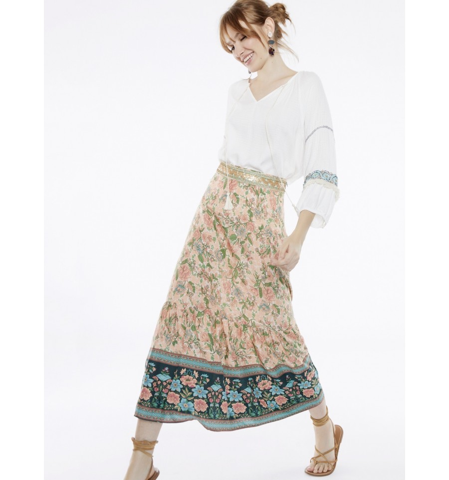FALDA LARGA ESTAMPADO GIPSY DETALLE BREEZE