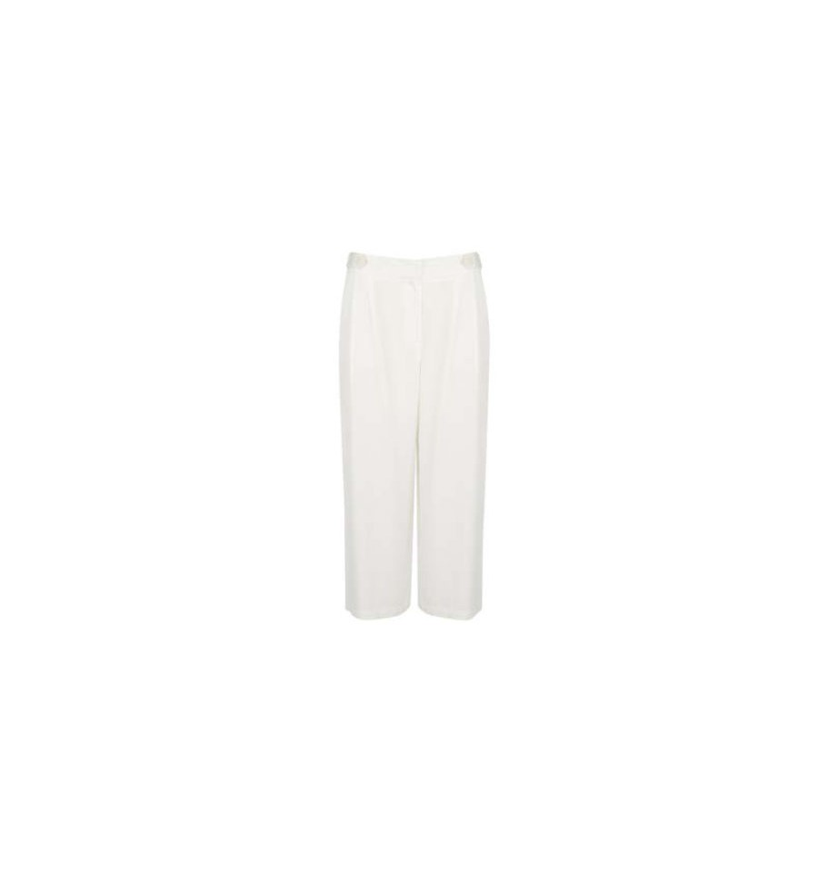 PANTALON DOBLE BOTON PINZA BLANCO CROP